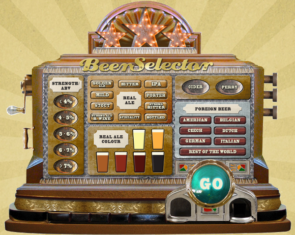 Screenshot of the Magical Beer Selector